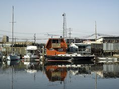 Houseboats in Westchester Creek, Bronx, NY