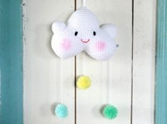 Atelier kiddies - Fair Trade 2Cute2beTrue mobiel happy baby cloud