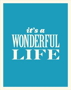 It's A Wonderful Life / A Vintage Poster