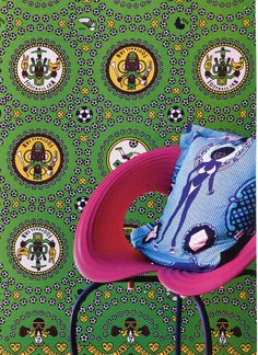 Tracy Rushmere's house in Cape Town (South Africa) - Shine Shine textil Turbulence Deco, Cape Town South Africa, African Fabric, African Prints, Out Of Africa, Cushions, Pillows, African Fashion, African Style
