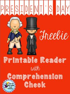 President's Day Freebie - reader with comprehension check