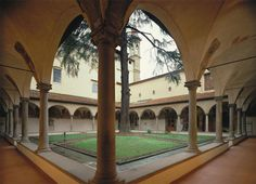 Courtyard of San Marco cloister in Florence. I saw Fra. Angelico's Annunciation here and could not stop crying.