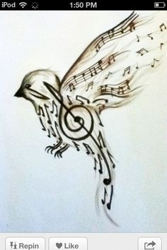 """Song bird tattoo. I want this and then some of the Lyrics from Casting Crowns, """"Lifesong."""" Let my lifesong sing to you.<3"""