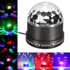 SOLMORE 12W Lampe de Scène RGB 51 LED Commande Sonore/Musique DJ Éclairage Atmosphère Projecteur Lumière Ampoule Boule Cristal Décoration…