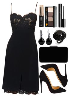 A fashion look from July 2016 featuring black heeled shoes, velvet purses and crystal rings. Browse and shop related looks. Night Outfits, Classy Outfits, Stylish Outfits, Beautiful Outfits, Dress Outfits, Fashion Outfits, Mode Style, Mannequins, Aesthetic Clothes