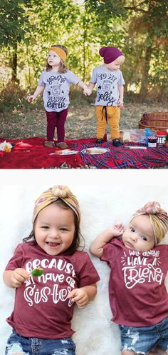 Matching sibling shirts! Perfect for twins, sisters, brothers, etc. #twins #twinning #matchingoutfits #matching #sisters #brothers