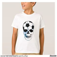 soccer ball skull head T-Shirt