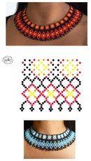 off loom beading Beaded Jewelry Designs, Bead Jewellery, Seed Bead Jewelry, Beading Tutorials, Beading Patterns, Beading Ideas, Diy Necklace Patterns, Beaded Collar, Zulu