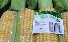 Some corn products are higher in FODMAP than others. The type of corn pictured, which is intended to be eaten as a vegetable, is a source of sorbitol.
