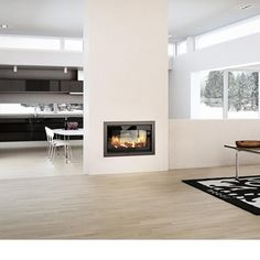 Robeys | Fireplaces | Rais | 2-1 Double Sided 6kw Wood Burning Insert Fire