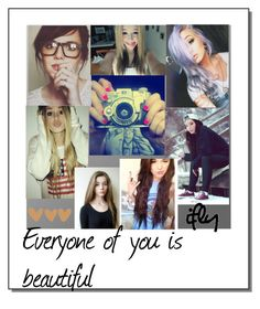 """""""You are Beautiful"""" by abbymaelovesyou ❤ liked on Polyvore featuring beauty and Brinley Co"""