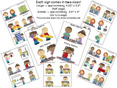 FREEBIE!!  Literacy Station signs.  Large and small sizes!  Perfect for pocket charts and station tubs.