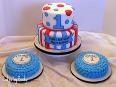Cakes by Becky: Seuss Themed Twin First Birthday
