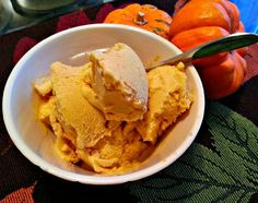 Dairy-Free Pumpkin Ice Cream  Only 5 Ingredients 2 15-ounce cans of coconut milk (make sure to use full-fat) 1 cup pumpkin (either canned or home-roasted) 1/2 cup maple syrup 2 teaspoons pumpkin pie spice 1 teaspoon vanilla extract