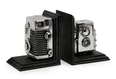 Vintage Camera Bookends  Oooooooh I love it....... must get me some more of these cameras & make this