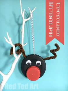 Cute Rudolph Reindeer Ornament! Love this little guy!