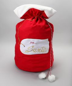 Take a look at this Red Santa Gift Bag by Dennis East International on #zulily today!