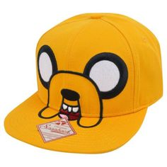 Adventure Time Jake Men's Yellow Adjustable Flatbill Hat - Listing price: $19.99 Now: $13.85