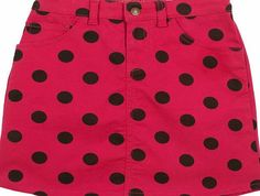 Frugi Girls Frugi Anna Skirt - Raspberry/Choc Big Spot Girls skirt
