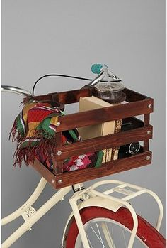 Bike basket. Love this one but Urban no longer has it. I'm pretty sure that I might be able to make this though!