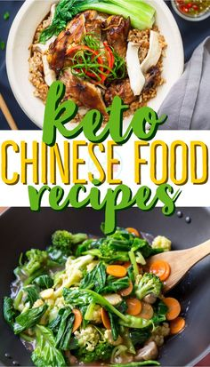 Keto and Low Carb Chinese Food Recipes - includes alternative to lo mein and chow mein noodles and sauces! Keto and Low Carb Chinese Food Recipes - includes alternative to lo mein and chow mein noodles and sauces! Ketogenic Recipes, Low Carb Recipes, Diet Recipes, Vegetarian Recipes, Healthy Recipes, Recipes Dinner, Ketogenic Diet, Chicken Recipes, Zoodle Recipes