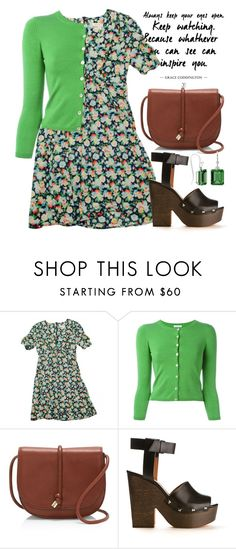 """""""Bright Green 1443"""" by boxthoughts ❤ liked on Polyvore featuring Topshop, P.A.R.O.S.H., Vince Camuto, Givenchy and StyleRocks"""