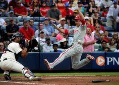 Johnson, Pendleton scrap after Braves lose to Phillies.