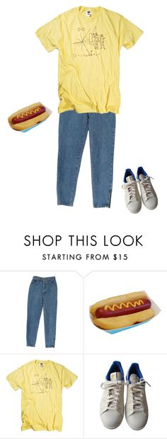 """hot dog"" by alienxo ❤ liked on Polyvore featuring adidas, women's clothing, women, female, woman, misses and juniors"