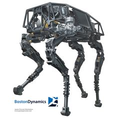Cutaway illustration of Boston Dynamics' quadruped robot, BigDog showing internal components. Robot Png, I Robot, Robot Illustration, Technical Illustration, Illustrations, Mechanical Design, Mechanical Engineering, Boston Dynamics, Real Robots