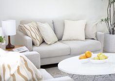 Man kann auch verschiedene Weißtöne miteinander kombinieren. #homestory #homestoryde #home #interior #design #inspiring #white #decoration #living