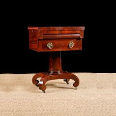 Antique Empire Writing Table in Mahogany c. 1830