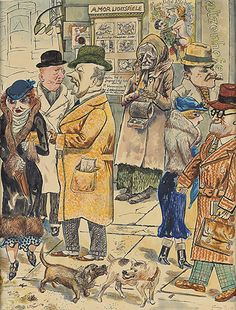 A new George Grosz exhibition in London takes visitors back to Weimar Berlin, turning the whole city into a vast caricature of fiendish faces and shady characters Max Beckmann, Max Ernst, Max Oppenheimer, Franz Marc, Horst Janssen, Hans Thoma, Paula Modersohn Becker, George Grosz, Surrealism