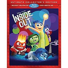 Disney•Pixar Inside Out Ultimate Collector's Edition 3D Combo Pack | Disney StoreDisney%u2022Pixar Inside Out Ultimate Collector's Edition 3D Combo Pack - From award-winning director Pete Docter comes Disney%u2022Pixar <i>Inside Out</i>, the heart-warming, and hysterical, story of Riley, the 11-year-old girl who is guided by the different emotions in her head.
