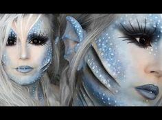Sea Siren  Makeup Tutorial - YouTube                                                                                                                                                                                 More Best Makeup Tutorials, Makeup Tutorials Youtube, Best Makeup Products, Makeup Youtube, Makeup Fx, Cosplay Makeup, Makeup Eyeshadow, Beauty Makeup, Maquillaje Halloween Tutorial
