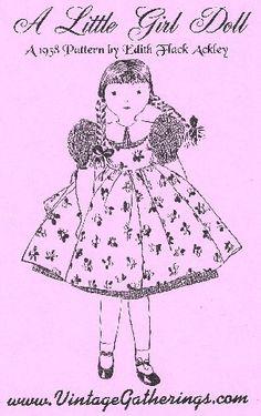 A Little Girl Doll  Vintage Pattern  by FransVintagePatterns, $8.99