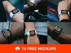 16+Free+Photorealistic+Apple+Watch+mockups