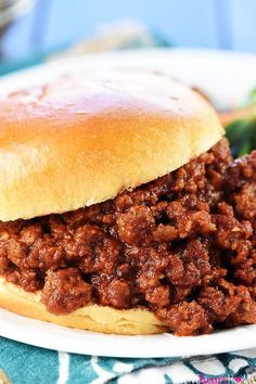 The Best Sloppy Joes Chef In Training. Homemade Sloppy Joes Recipe {From Scratch} TheDirtyGyro. Homemade Sloppy Joes Recipe {From Scratch} VIDEO! Home and Family Best Homemade Sloppy Joe Recipe, Homemade Sloppy Joes, Tomato Soup Sloppy Joe Recipe, Easy Sloppy Joes, Healthy Sloppy Joe Recipe, Healthy Sloppy Joes, Slow Cooker Sloppy Joes, Beef Dishes, Hamburgers