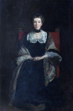 Portrait of Elizabeth Welsh by Sir John Lavery, 1904. Elizabeth Welsh was the sixth Mistress of Girton 1885.
