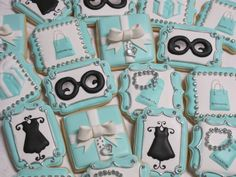 Breakfast at Tiffany Decorated Sugar Cookie by MartaIngros on Etsy