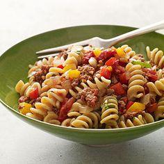 Spicy Sausage-and-Pepper Pasta #recipe