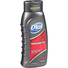 Used Dial For Men® Magnetic® Pheromone Infused Attraction Enhancing Body Wash 21 fl. oz. Squeeze Bottle