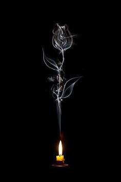 Heat of Passion . A Rose 想像。 Smoke Art, Inspiration Art, Dark Art, Fantasy Art, Cool Art, Art Photography, Light Painting Photography, Candles, Drawings
