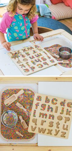 Rainbow Rice is such a fun sensory base for play. Here's two quick and simple ways you can make rainbow rice for yourself. Toddler Sensory Bins, Toddler Play, Toddler Crafts, Preschool Crafts, Toddler Games, Kids Crafts, Nursery Activities, Fun Activities For Toddlers, Sensory Activities