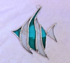 Angel Fish Stained Glass Suncatcher