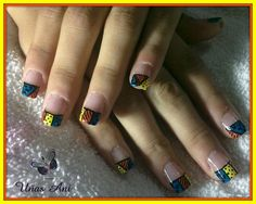 Britto nails by Aninails - Nail Art Gallery nailartgallery.nailsmag.com by Nails Magazine www.nailsmag.com #nailart