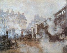Claude Monet (1840-1926) [Le Pont de l'Europe, Gare Saint-Lazare] , 1877 Claude Monet, Monet Paintings, Impressionist Paintings, Painting Gallery, Art Gallery, Artist Monet, Oil Canvas, Canvas Art, Oil Painting Reproductions