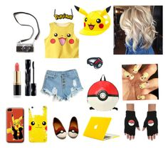 """Pokémon"" by crazyalexis777 ❤ liked on Polyvore featuring Revlon and Shiseido"