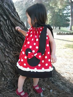Cute Minnie Dress @Ashley Walters Walters Kozlowitz  You should SO have your Mom make one of those for Sarah! She would look so precious!