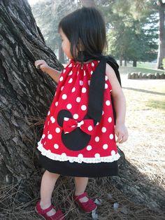 Minnie Mouse Pillowcase Dress, so cute