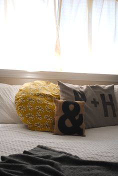 DIY Pillow - easy sewing project